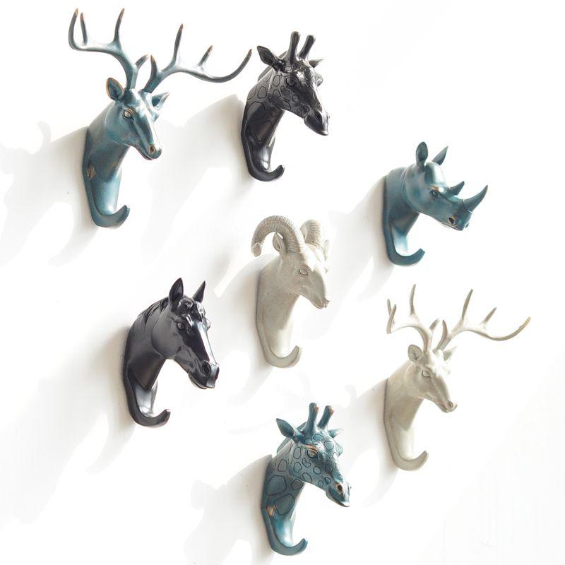 ... China Horse Hook Suppliers: Buy 3 Send Deer Rhino Elephant Giraffe  Horse Animal Decorative Hook Creative Resin Model Bathroom Wall Hook Coat  Wall Hook