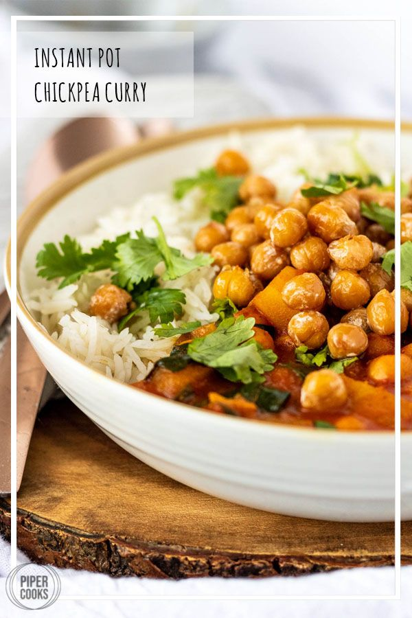Instant Pot Vegetarian Chickpea Curry Instant Pot Vegetarian Chickpea Curry  PiperCooks  Tomatobased chickpea curry with bold Indian spices chunks of potato creamy coconu...