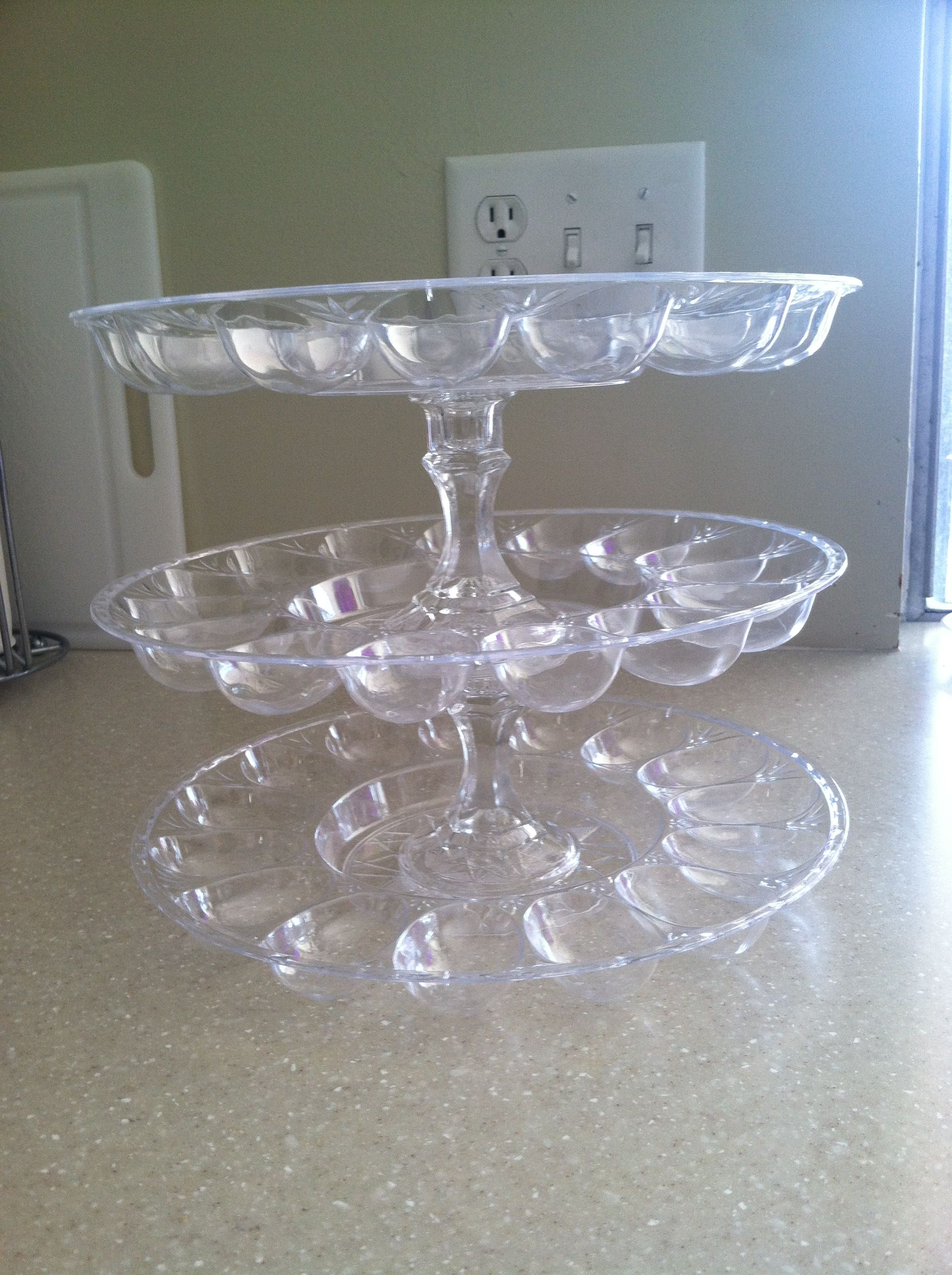 Tiered Cake Tray Sundae Bar