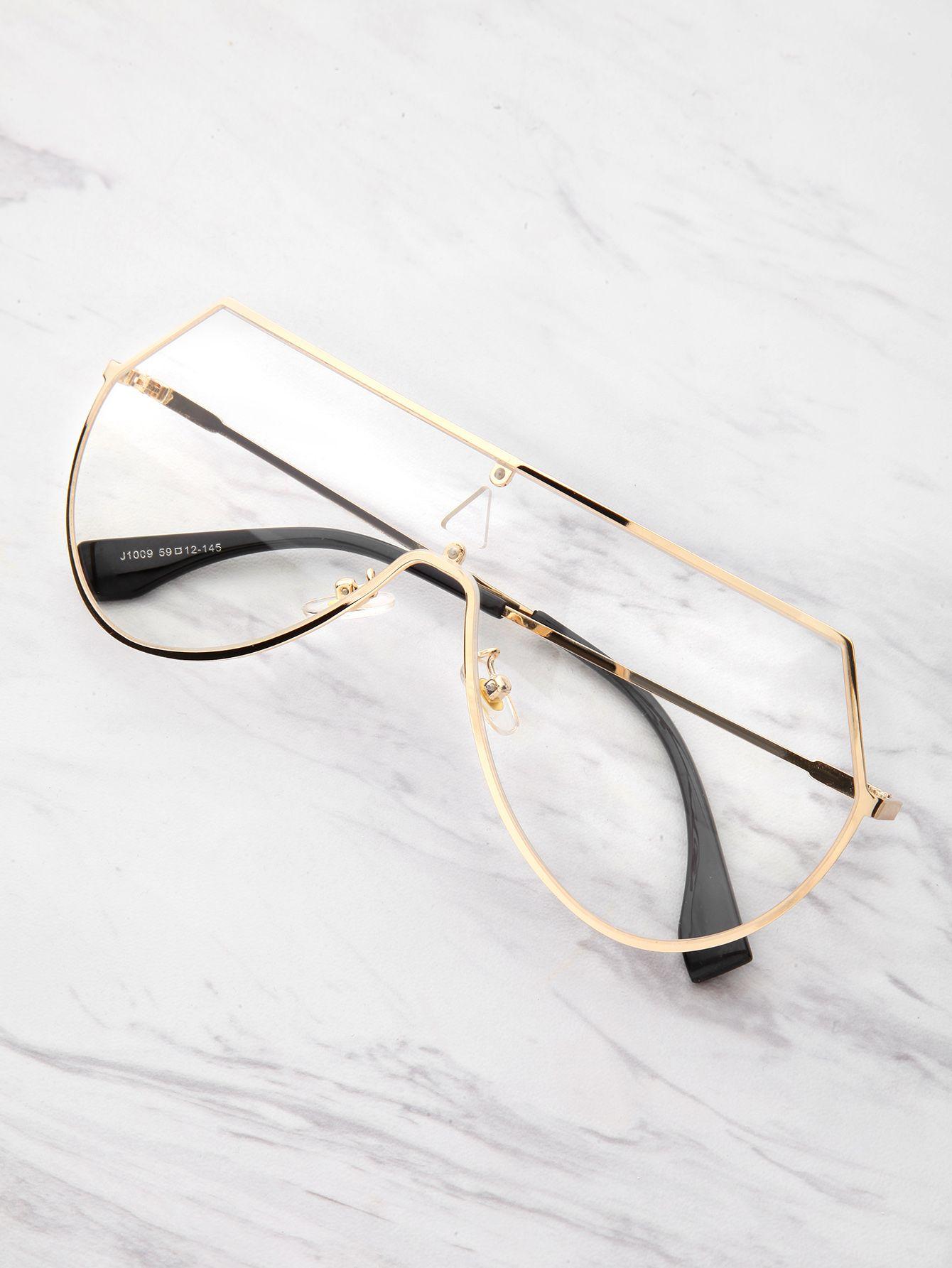 5b13582f4d Shop Triangle Cut Visor Glasses online. SheIn offers Triangle Cut Visor  Glasses   more to fit your fashionable needs.