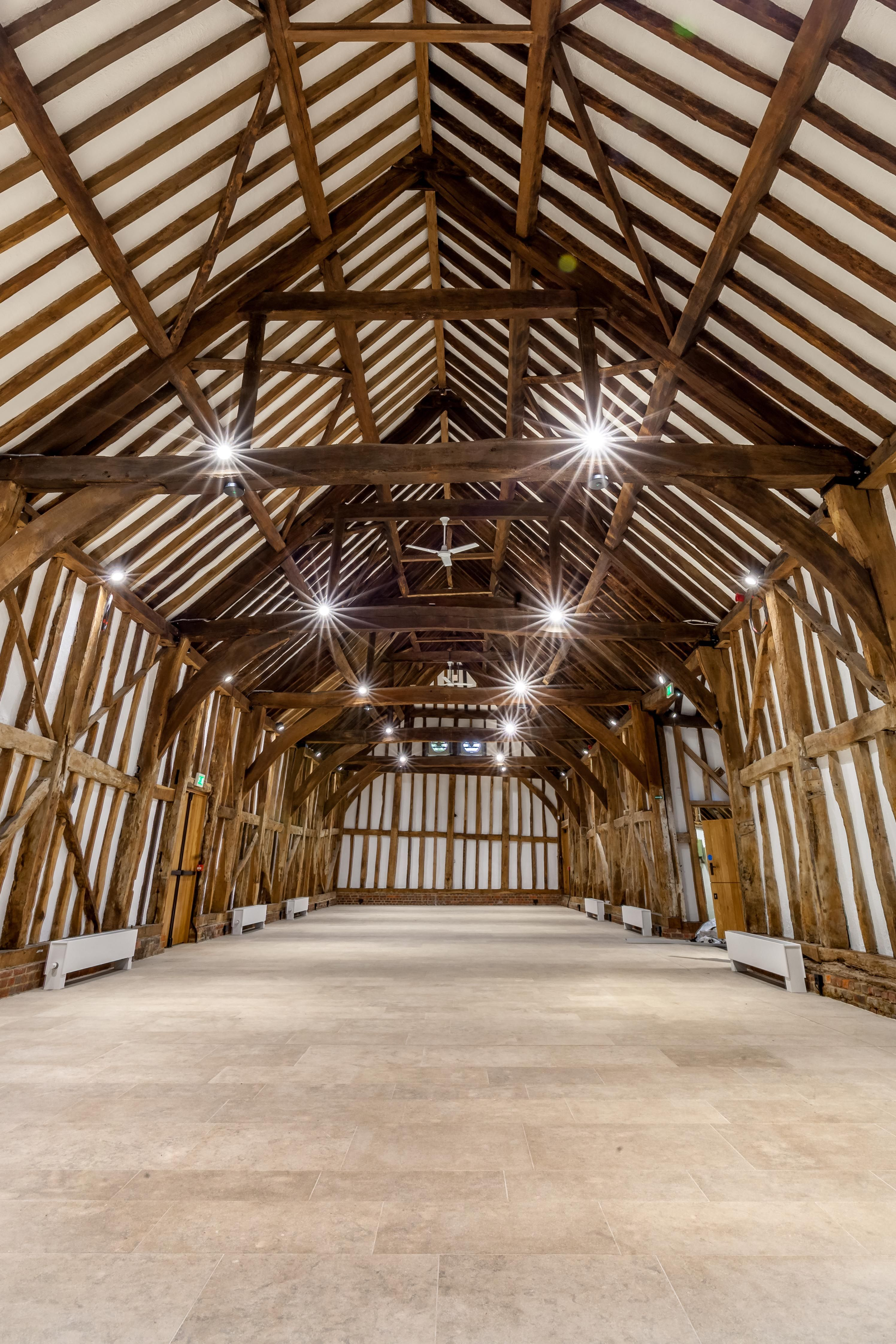 A Beautiful Wedding And Event Venue At Headstone Manor The Barn Features Natural Stone Floor Tiles From Solar Range