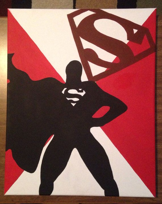 Superhero Canvas Painting By ShockdCreations On Etsy