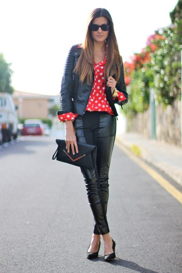 20 Women Leather Pants-Trend For This Season ‹ ALL FOR FASHION DESIGN