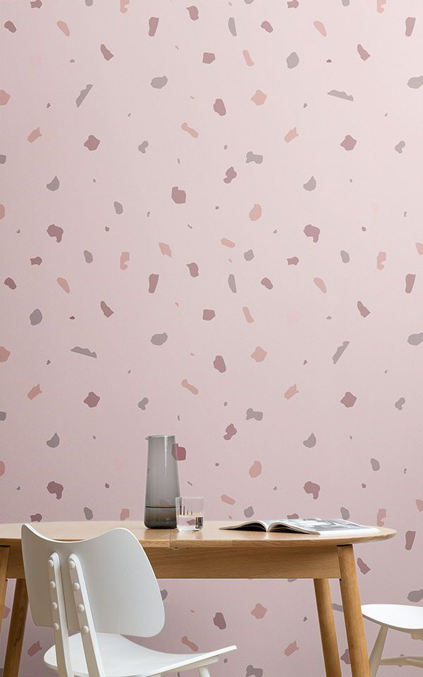 Rosa Terrazzo Tapeten Wandbild Pink Wallpaper Pink Home Decor Dusky Pink Wallpaper