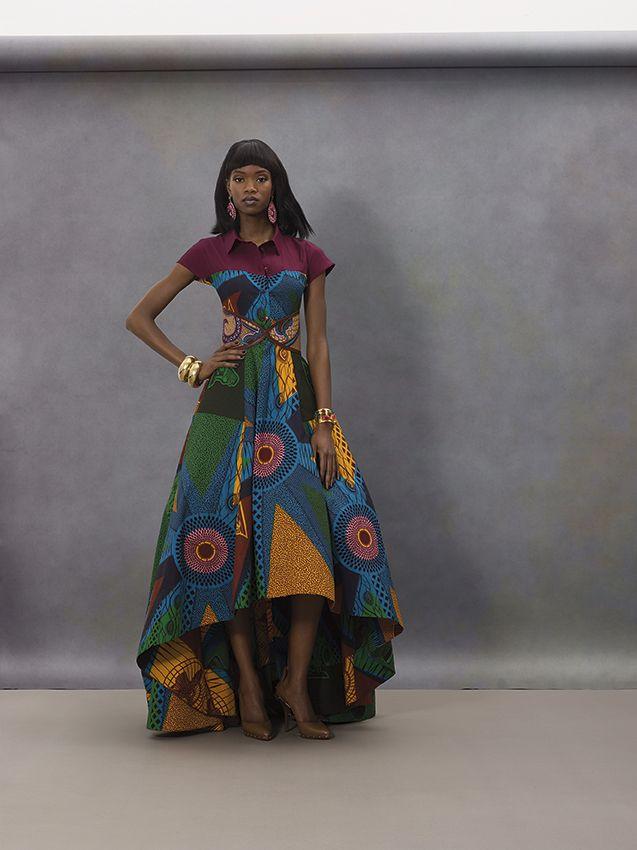 COLOURFUL BIG DRESS | Vlisco V-Inspired