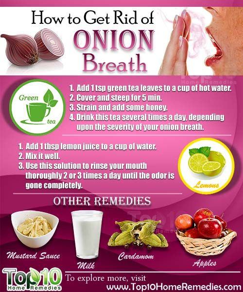 Beau How To Get Rid Of Onion Breath
