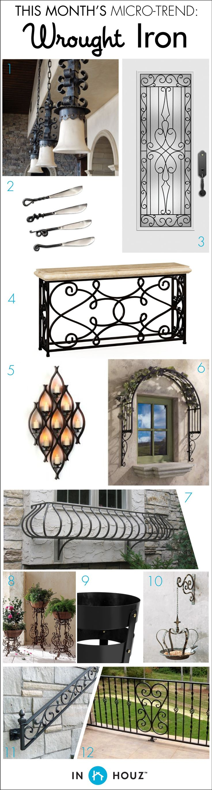Micro trend home design wrought iron bring some districtive old