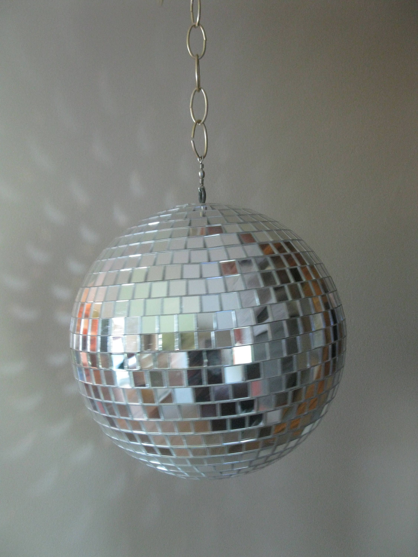 1970s hanging disco ball mirrored ball 12 retro disco ball 1970s hanging disco ball mirrored ball retro disco ball dance party decor arubaitofo Gallery