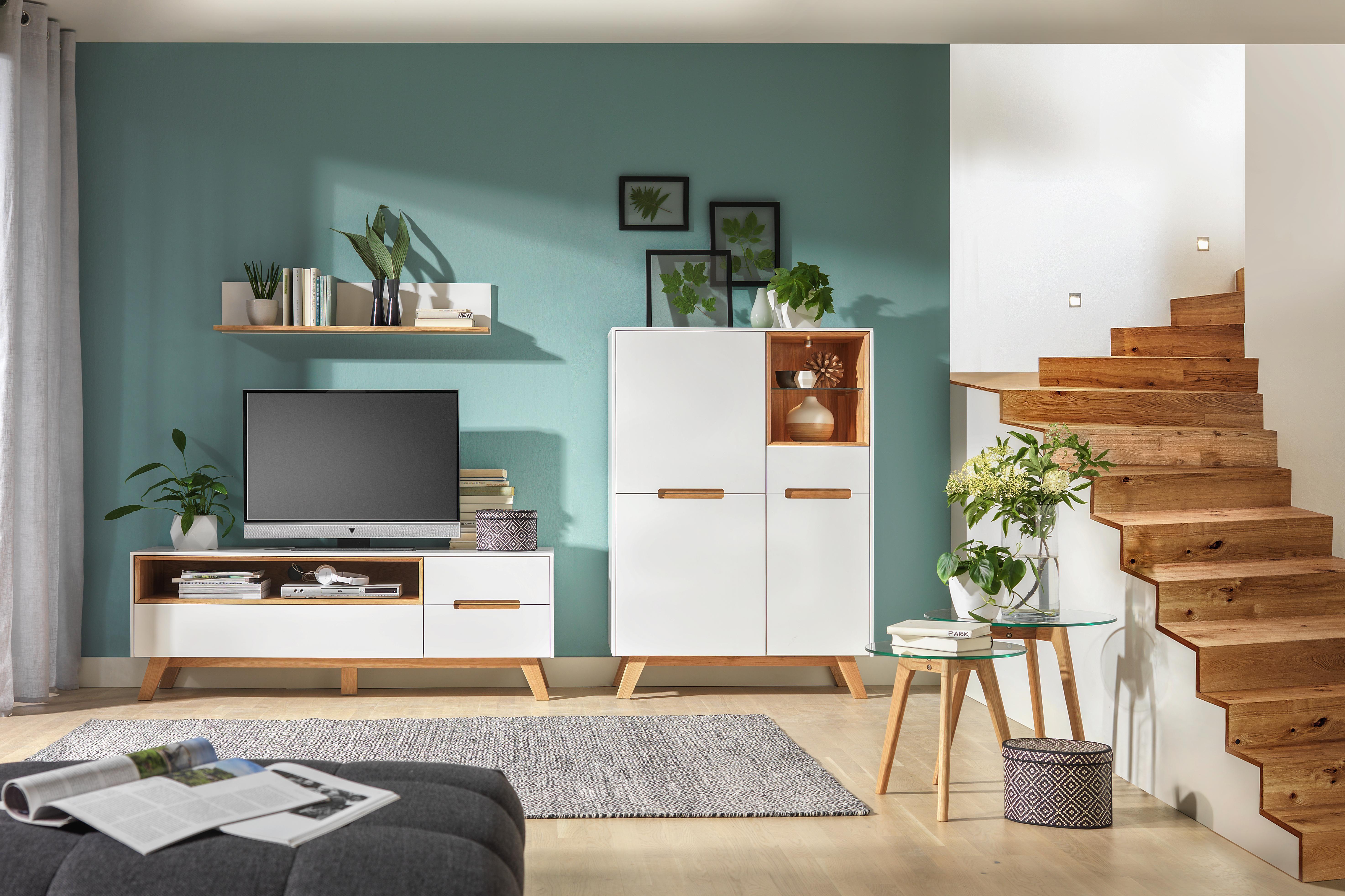 Lowboard und Highboard im Skandi Design - Wohnzimmer Möbel ...
