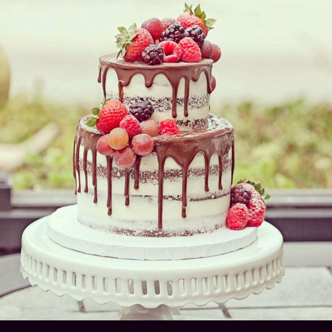 Naked Cake with Chocolate Drip