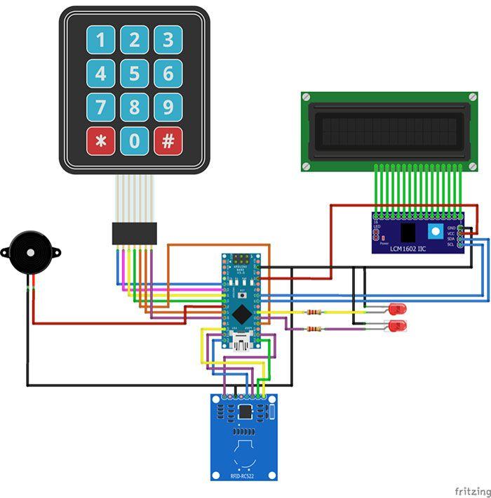 arduino rfid door lock   ideas electronicas   Pinterest