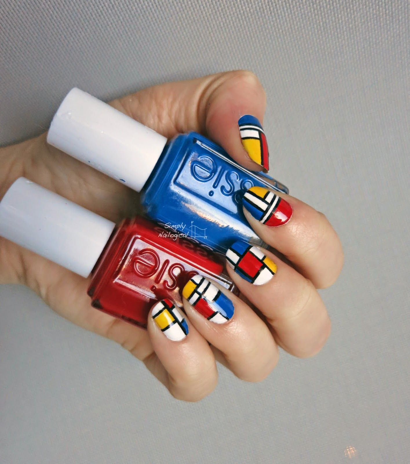 Simply Nailogical: Mondrian inspired nail art | Trending Nail ...