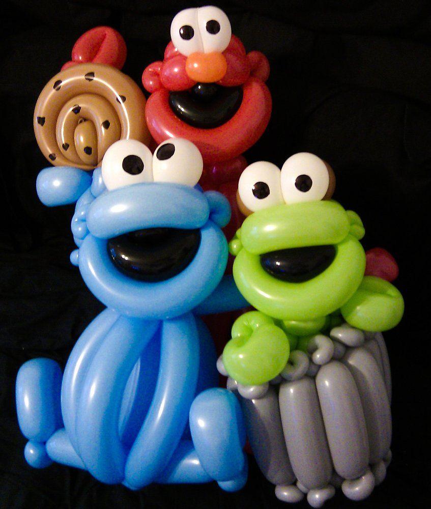 Crazy balloon animals - Sesame Street Themed Ballloon Animals By Marcus