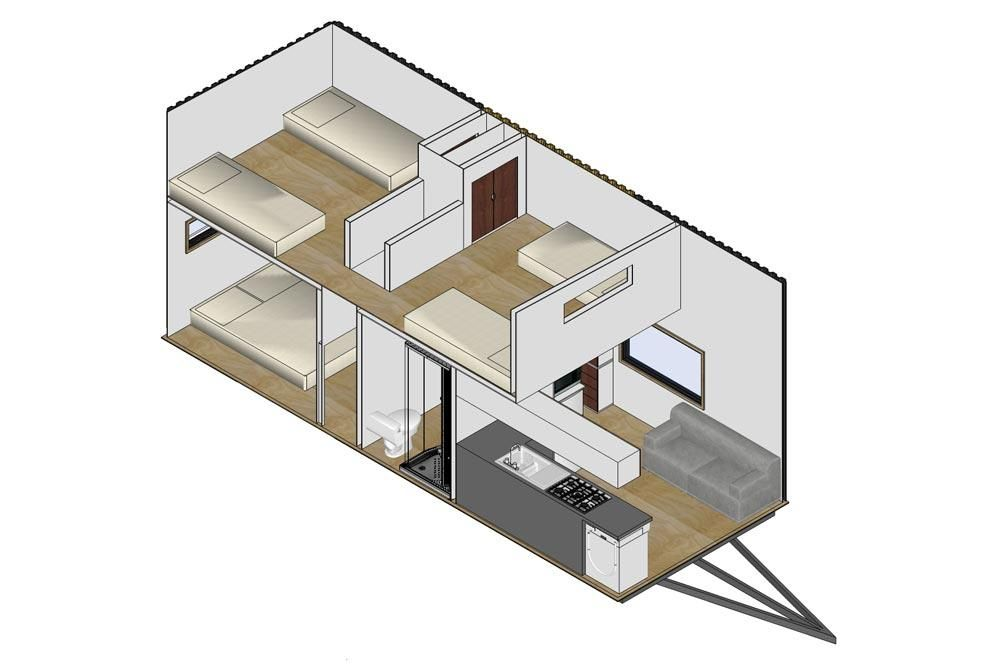 3 Bedroom Kauri Tiny Home On Wheels By Tiny House Builders Sleeps 6 Tiny House Builders Tiny Houses Plans With Loft Building A Tiny House