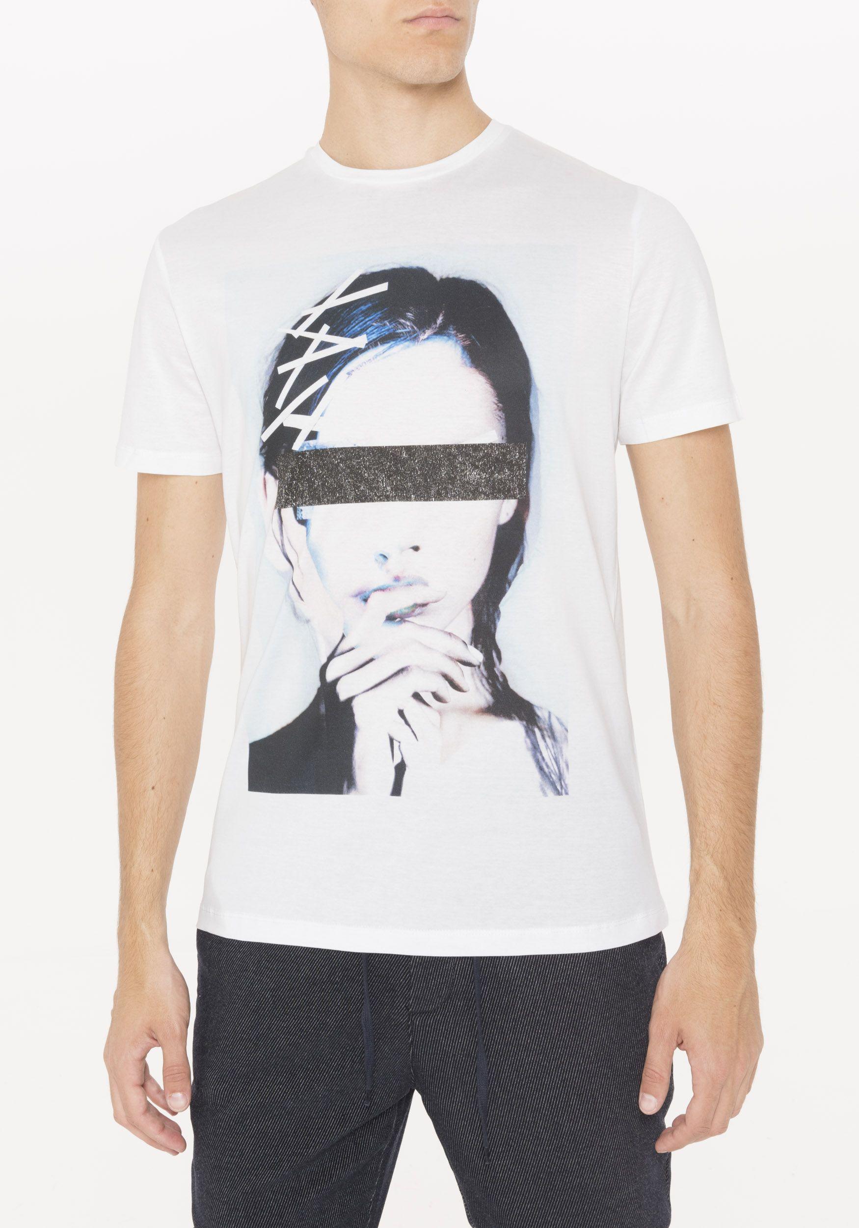 0a34987a T-shirt con stampa overlap faces, colore BIANCO | Antony Morato ...