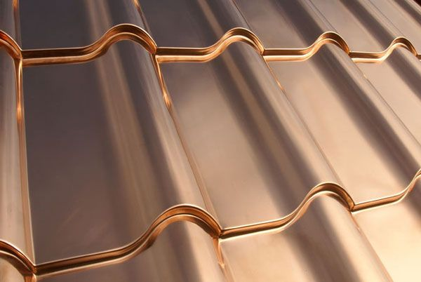 Holy Mother Of Copper Tile Look Roof Wow Copper Roof Metal Roof Copper Tiles