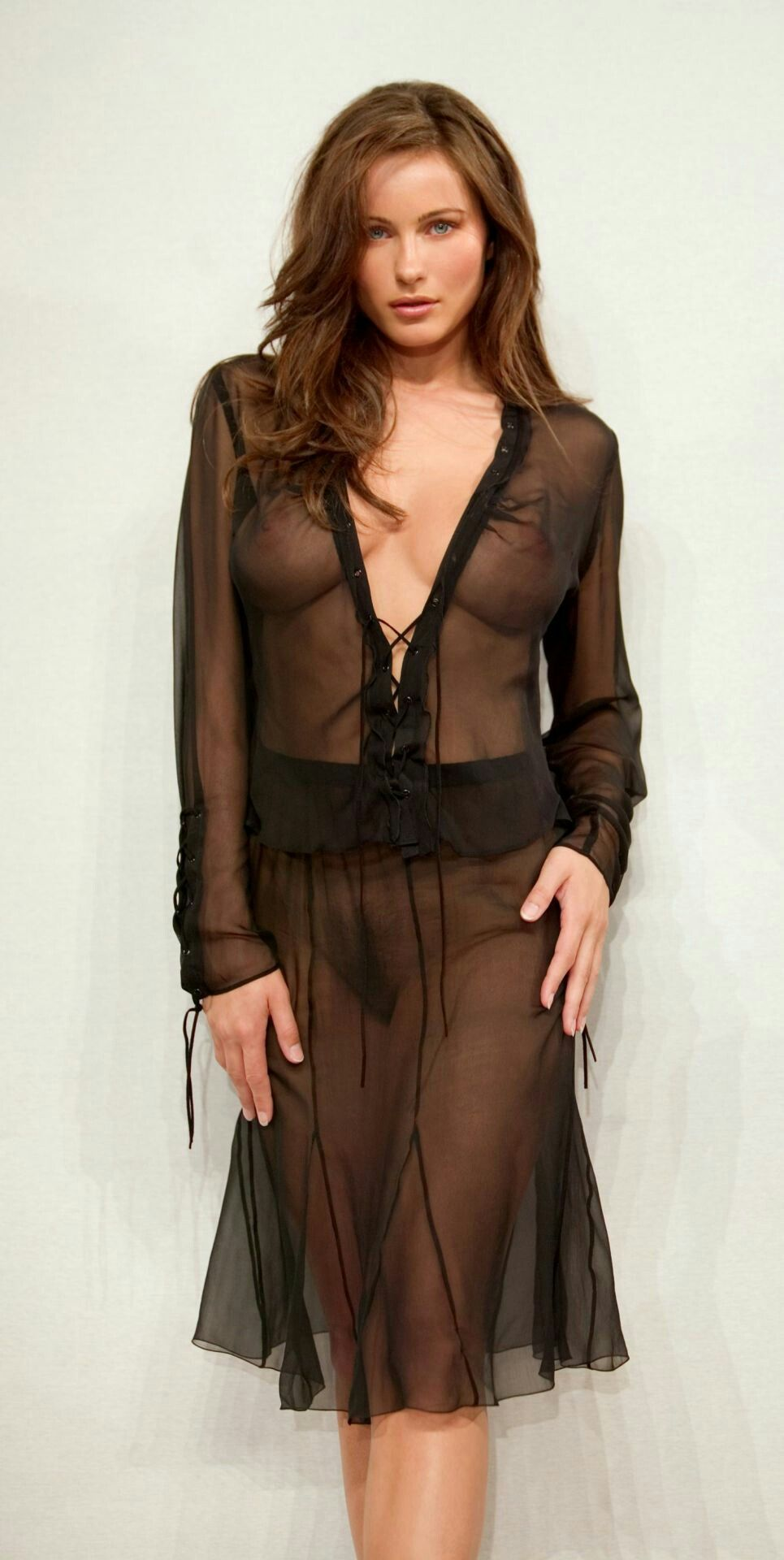 Black sexy nightwear shirt dress sheer women lingerie