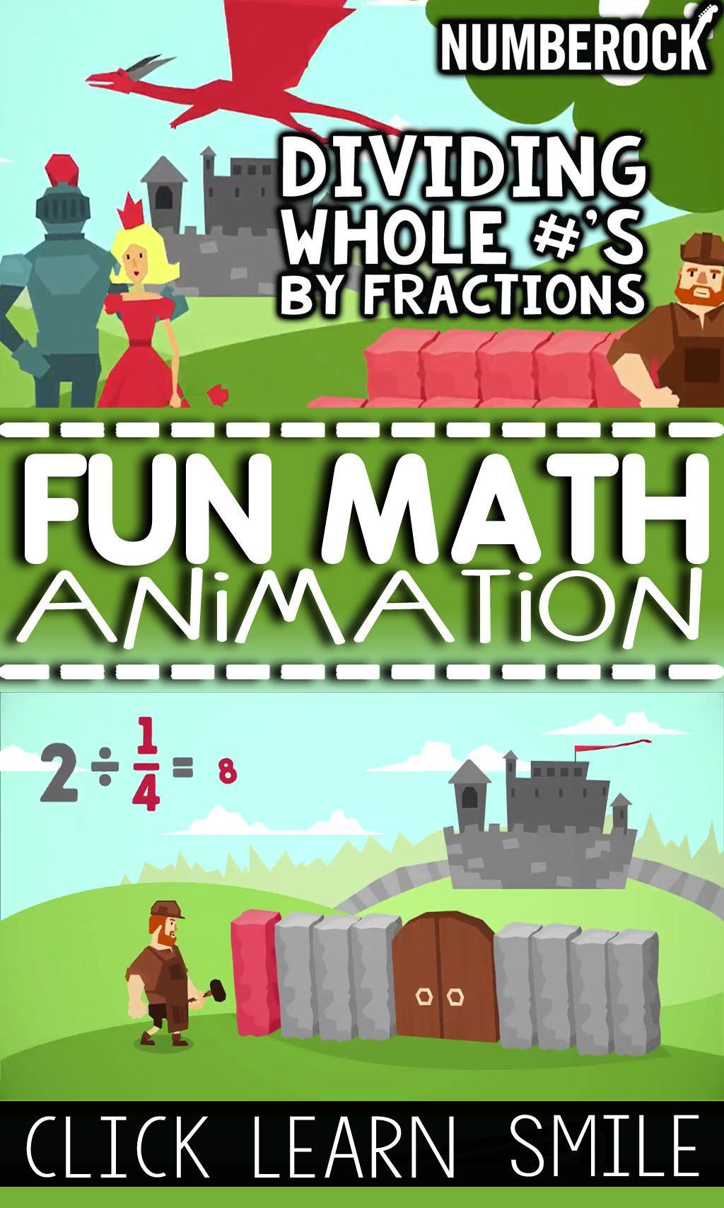 Dividing Fractions With Whole Numbers Video