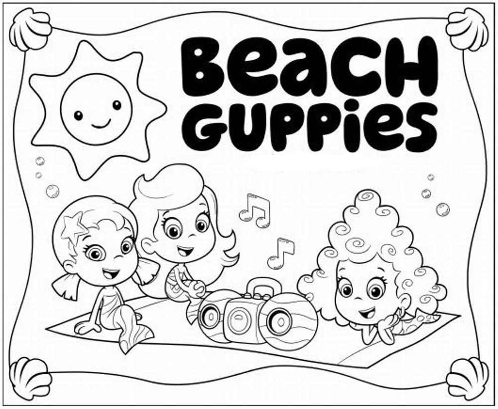 Free Bubble Guppies Coloring Pages | Animation Coloring Pages ...