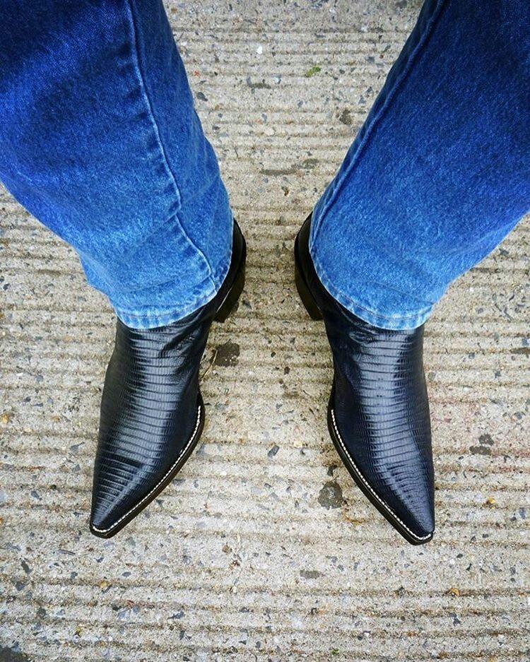 Lick shoe or heel or boot