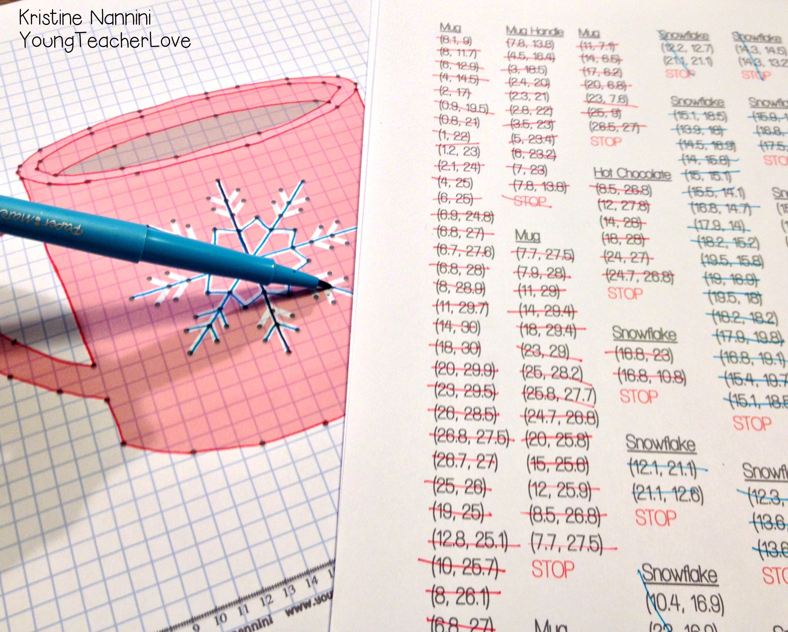 worksheet Winter Coordinate Graphing winter coordinate graphing pictures ordered pairs mystery pictures