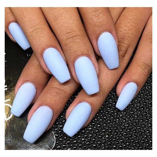 Matte Periwinkle Liked On Polyvore Featuring Beauty Products Nail Care And