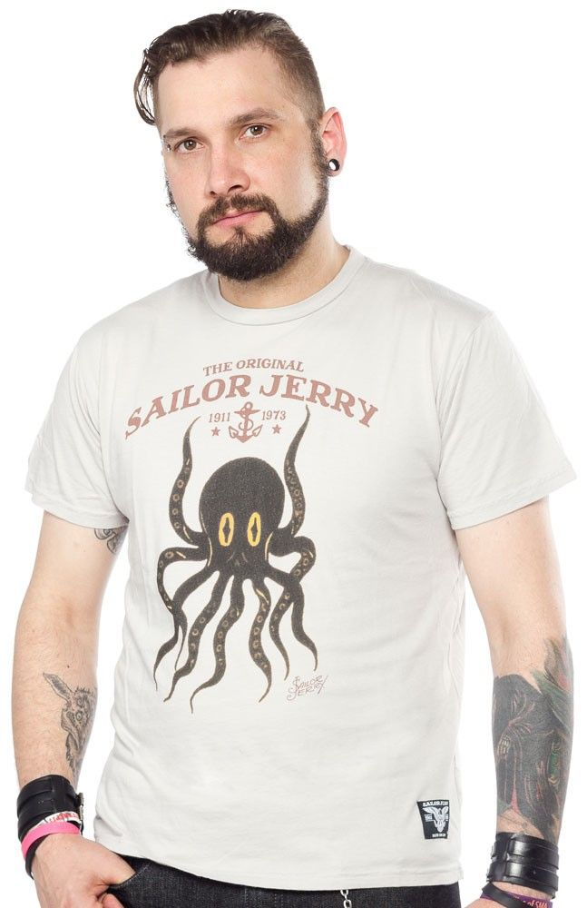 d5fec4afc364e SAILOR JERRY OCTOPUS T SHIRT SOURPUSS EXCLUSIVE $32.00 #sailorjerry # exclusive #tattoo #tattooflash #traditionaltattoo #octopus #nautical