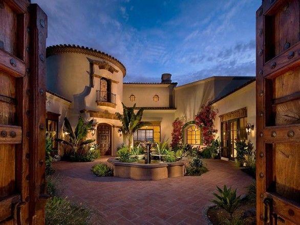 Arizona Home Can We Move Please Hacienda Style Homes Hacienda Homes Spanish Style Homes