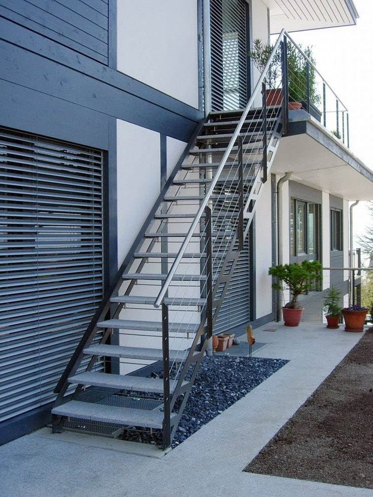Best 20 Outdoor Stair Railing Ideas On Pinterest: Exterior Metal Stairs Residential #0