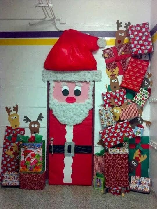 Las navidad es una gran oportunidad para decorar la puerta for Ambientacion para navidad