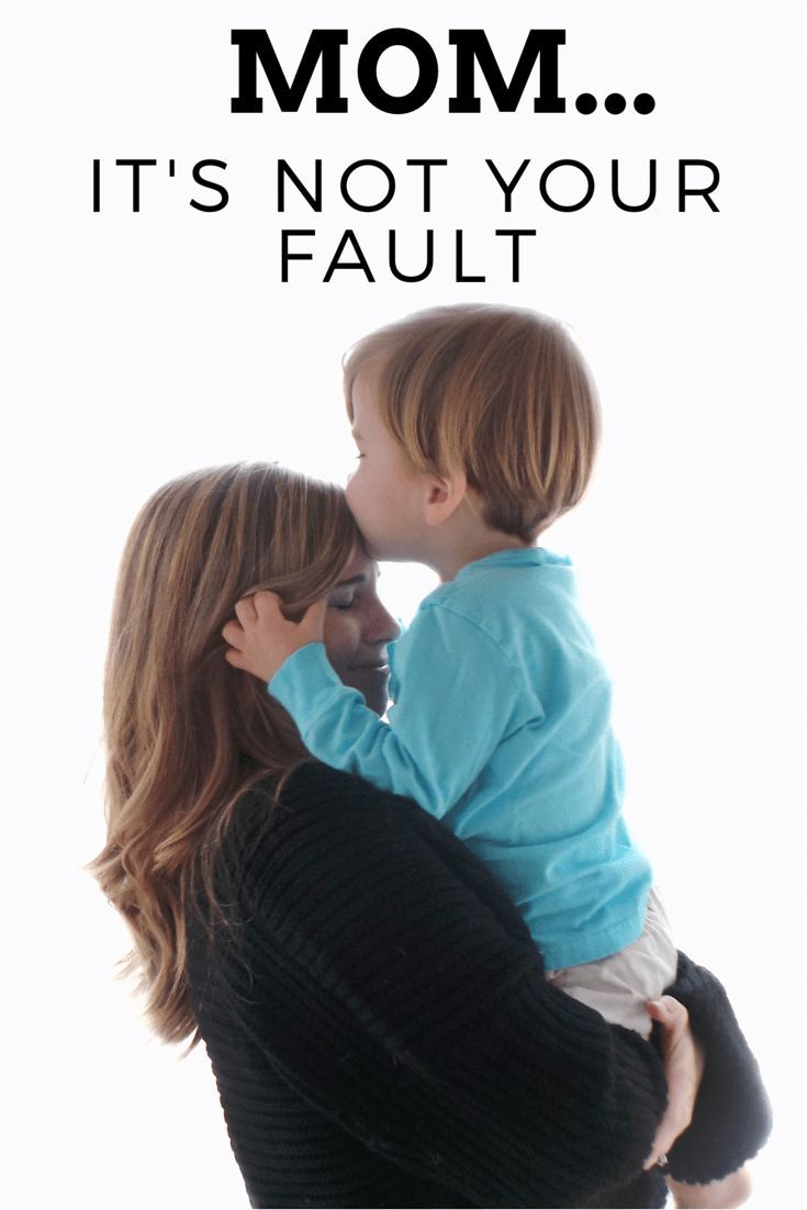 Mom...it's not your fault. When we feel the mom blame. Motherhood struggles that make us feel like we aren't great moms.