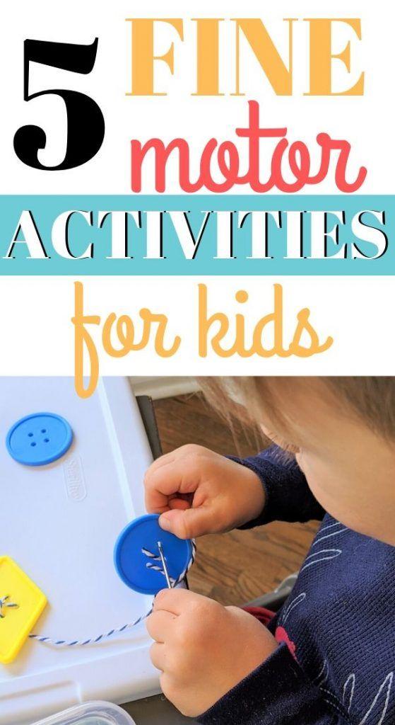 Fine Motor Activities for Preschoolers | Fine motor ...