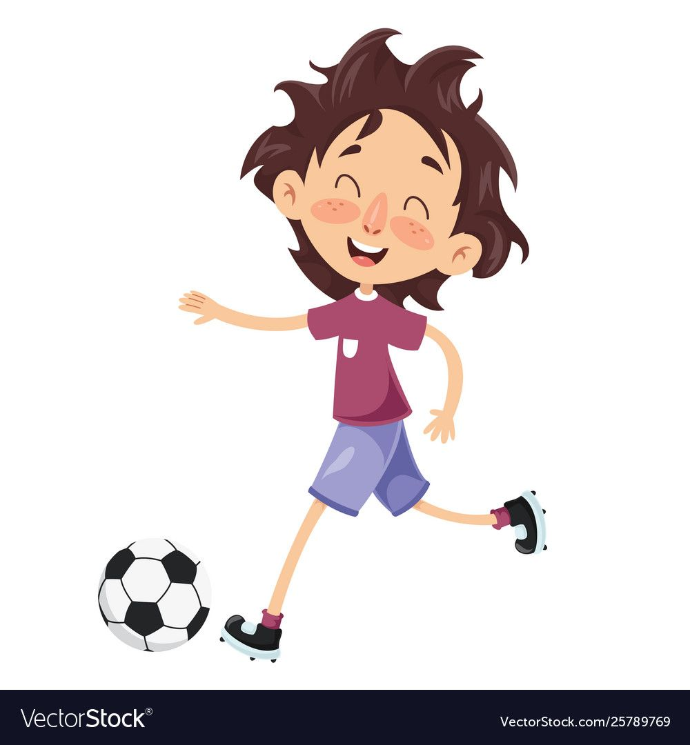 Kid Playing Football Download A Free Preview Or High Quality Adobe Illustrator Ai Eps Pdf And High Resol Kids Playing Football Cartoon Pics Playing Football