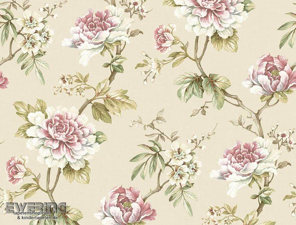 23 256108 Ginger Tree 3 256108 Papiertapete Blumen Beige Tapete