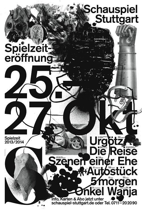 Jakob kirch de schauspiel stuttgart 2013 14 poster for Grafikdesign stuttgart