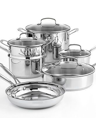 Cuisinart Chefs Classic Stainless Steel Cookware, 11 Piece Set - Cookware Sets - Kitchen - Macys Bridal and Wedding Registry #macysdreamfund