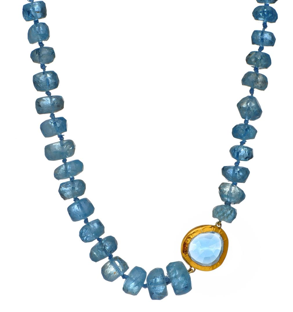 Nava Zahavi Aquamarine with blue topaz set in gold Jewelry
