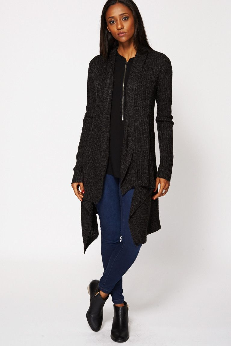 Ribbed Waterfall Cardigan | .FALL. | Pinterest | Charcoal and Products
