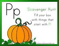 """P"" Scavenger Hunt"