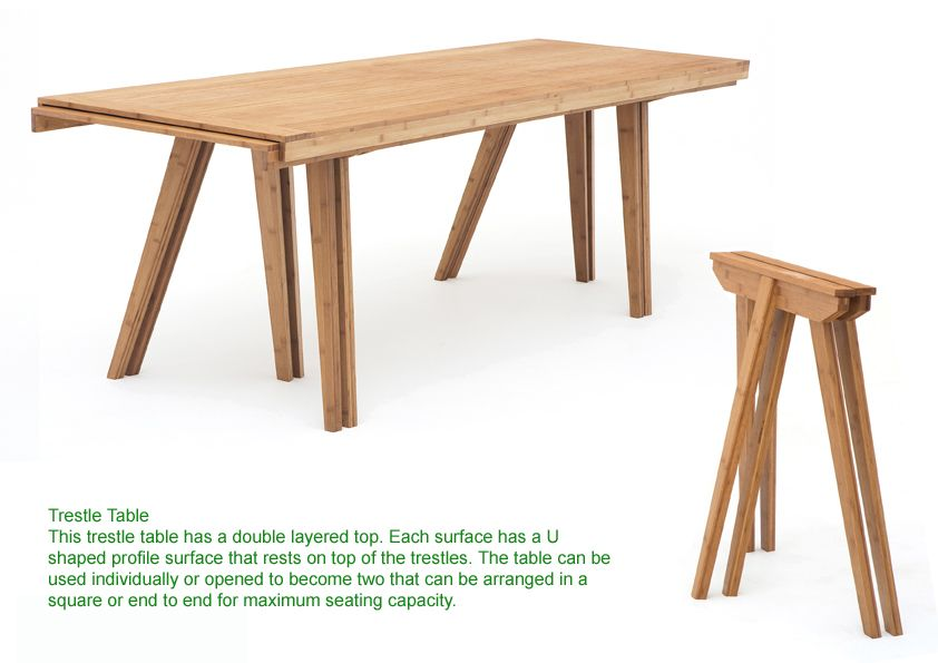 this is a trestle table but in contemporary design it was used in