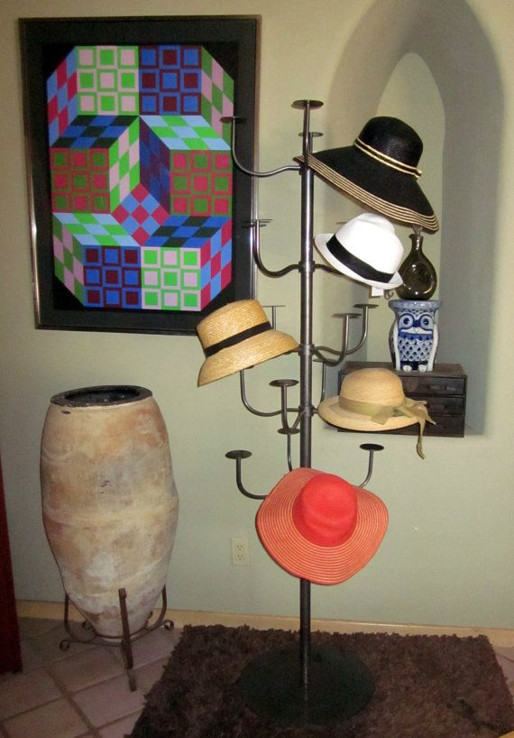 Huge Tall Industrial Metal Vintage Hat Tree Form By Welovelucite My Sewing Room Used Store Fixtures Craft Booth Displays