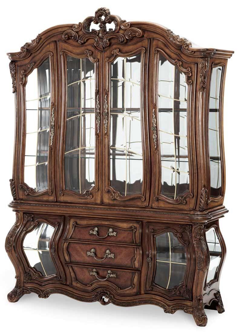 Aico Furniture Palais Royale China Cabinet In Rococo Cognac