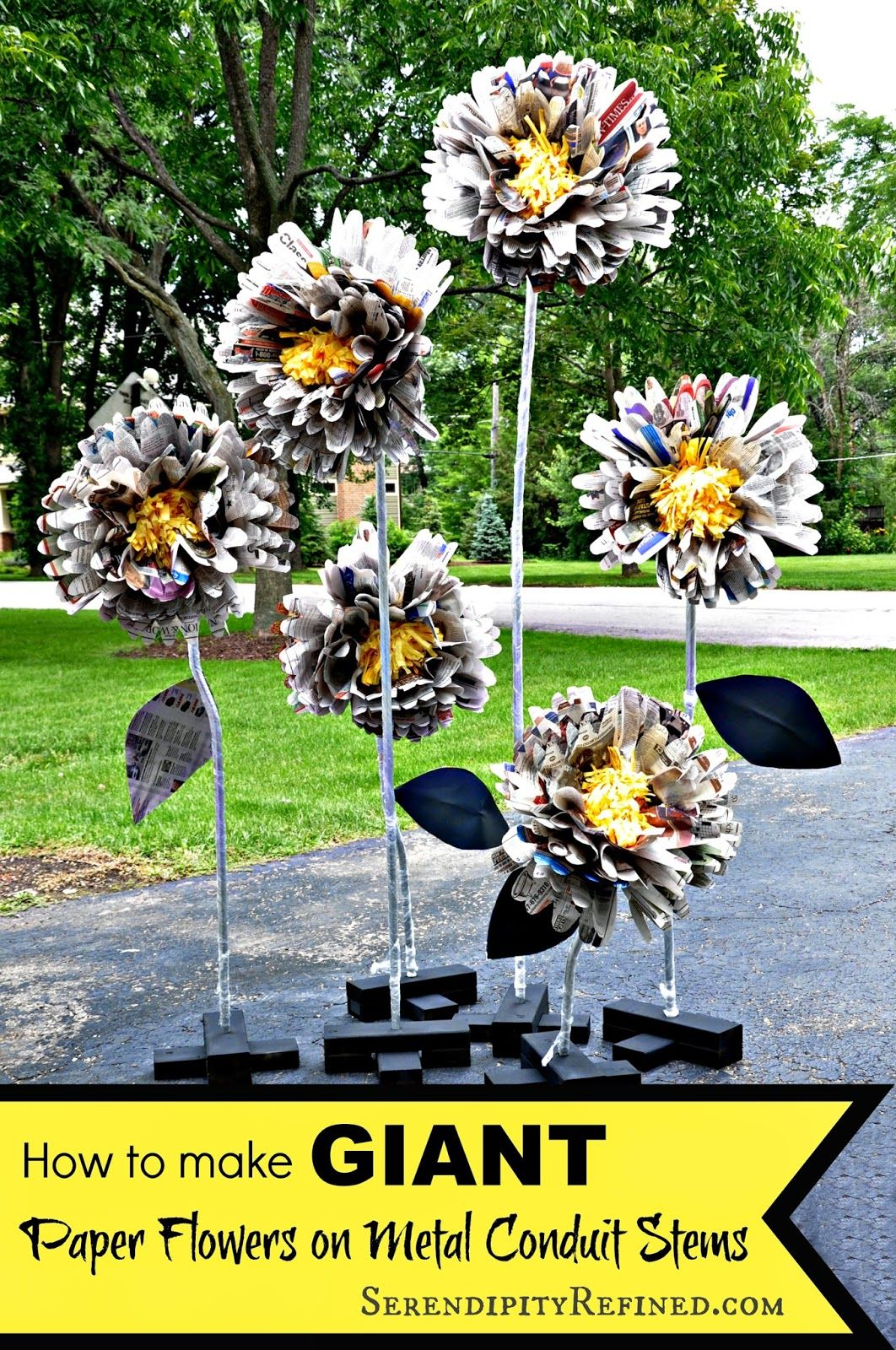 Giant free standing paper flowers on conduit stems tutorial amber giant free standing paper flowers on conduit stems tutorial mightylinksfo