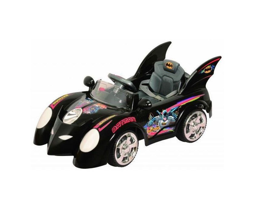girlsboys official batman batmobile ride on race car battery power rc wheels