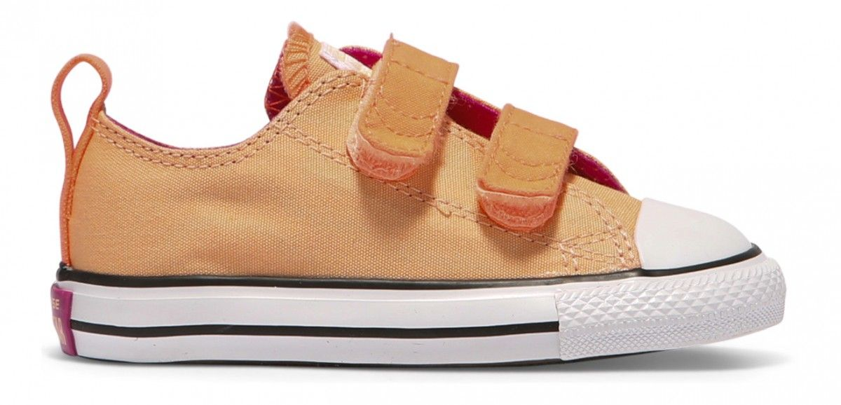 09c027dee525 Converse Chuck Taylor All Star Toddler Low 2V Sunset Glow Hyper Orange White