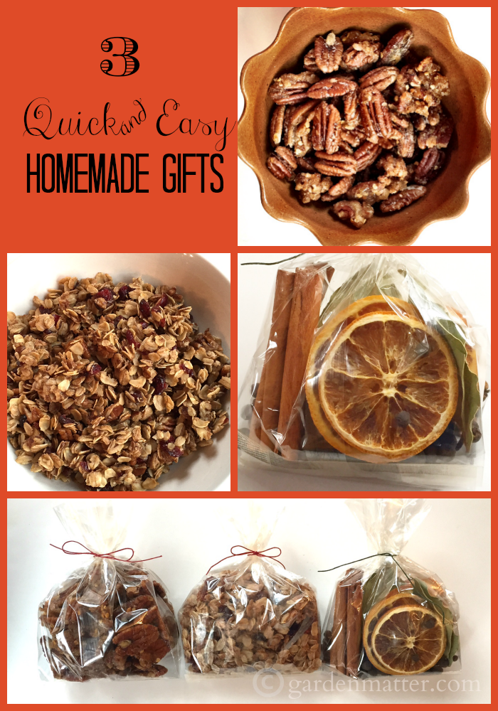 Here are three different easy homemade gifts that you can a ton of and give out at the holidays, as a hostess or thank-you to everyone in your life.