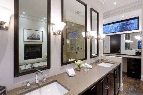 Houzz Home Design Decorating And Remodeling Ideas And Inspiration Kitchen And Bathroom De Mirror Wall Bathroom Bathroom Mirror Design Bathroom Mirror Frame