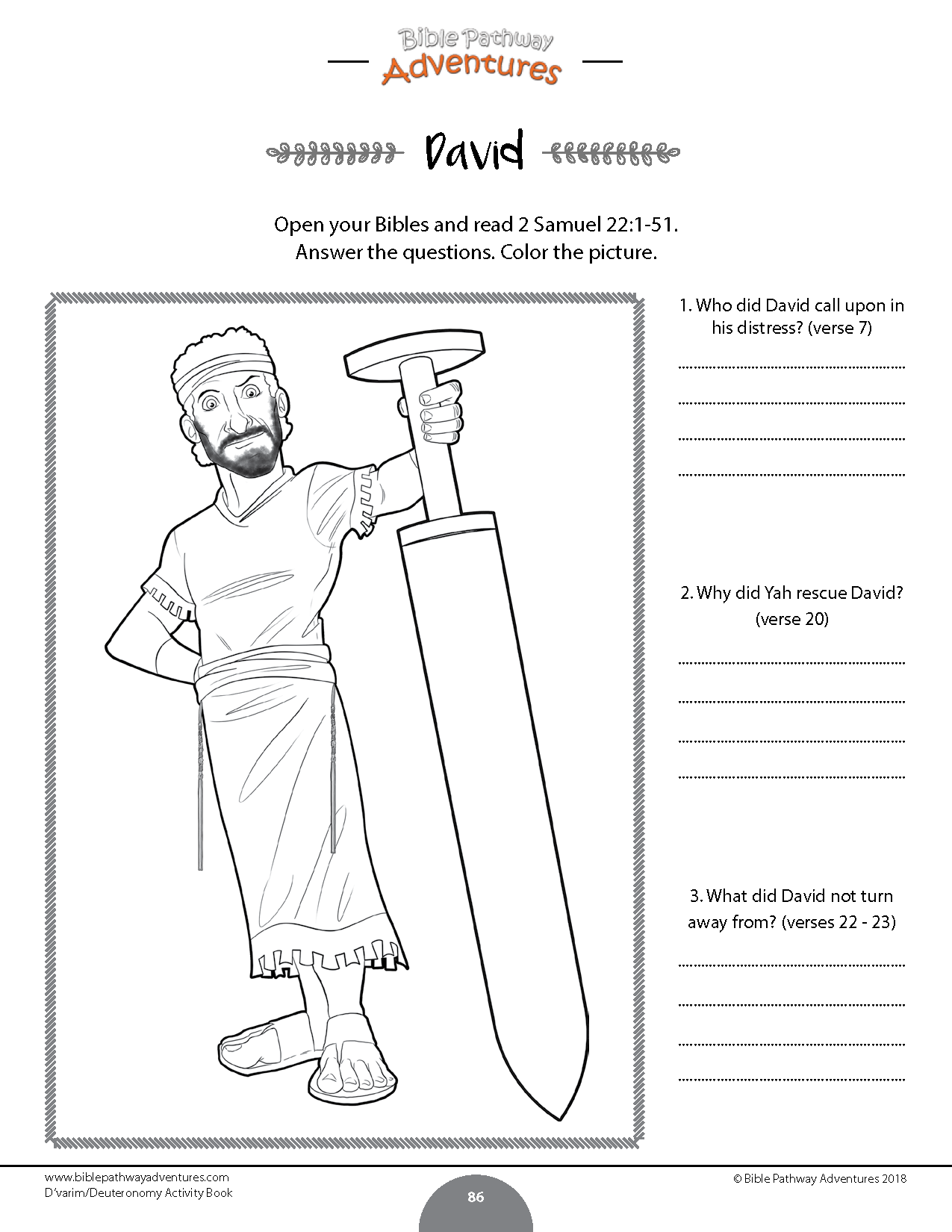 Worksheet From D Varim Deuteronomy Torah Portion