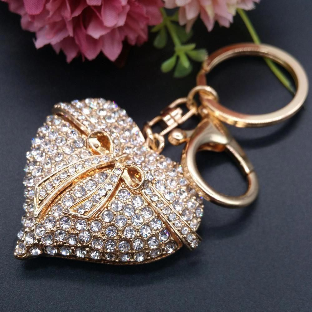 A Beautiful Diamante unicorn keyring  Rhinestones Charm Pendant Purse Bag Key Ring Chain Keychain Gifts