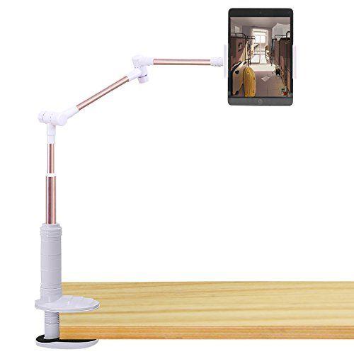 Geepin Ipad Tablet Holder Stand Mount Clamp 360 Rotating Desk Lamp Tablet Holder Lamp